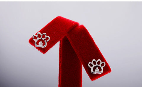 Earrings - 925 Silver Paw Stud Earrings