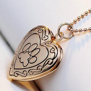 Necklace - Paw Heart Shape Pendant