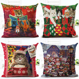 Pillow - Christmas Cat Pillow