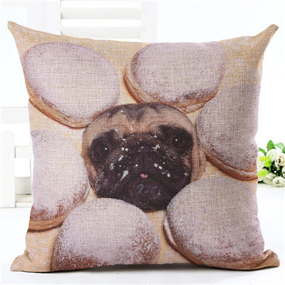 Pillow - Nordic Style Pug Pillow