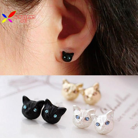 Cat Head Earring