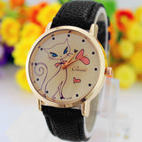 Cat Leather Quartz Watch