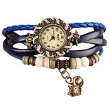 Leather Cat Bracelet Wrist Watch