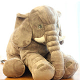 Large Plush Elephant Toy Sleeping Cushion