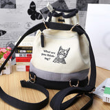 Just a Cat Canvas Bag