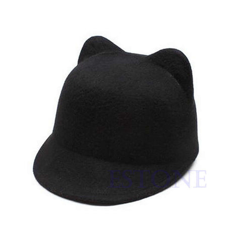 Winter Cat Ears Wool Cap