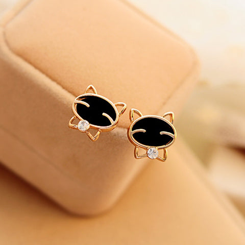 Smile Cat High-Grade Fine Stud Earrings
