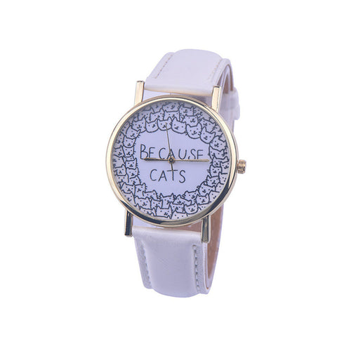 Because Cats Quartz Watch