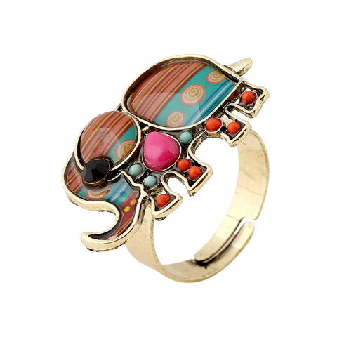 Adjustable Elephant Vintage Ring