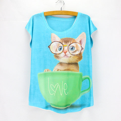 Shirt - Cat In Cup Shirt