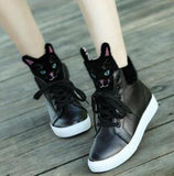 Leather Cat Head Casual Shoes