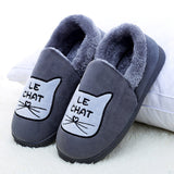 Cute Cat Winter Plush Soft Slippers