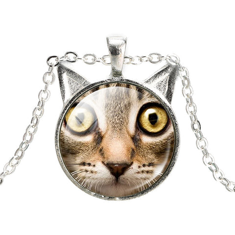 Cute Cat Face Necklaces - Giveaway