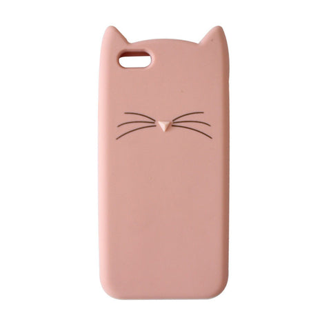 3D Cute Cartoon Cat Case Cover for iPhone 7 7 plus 6 6s 4.7 inch 6 6s Plus 5.5""