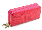 Firenzuola  New  Leather Wallets Women Double Zipper Wallet Crocodile Pattern Leather Clutch #354