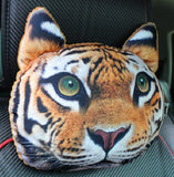 3D Printed Cat Face Car Headrest Pillows