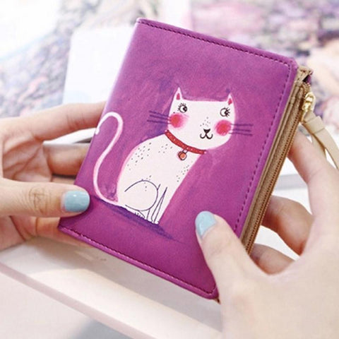 Vintage Cat  Short Wallet