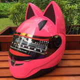 New! Cat Ears Biker Helmet