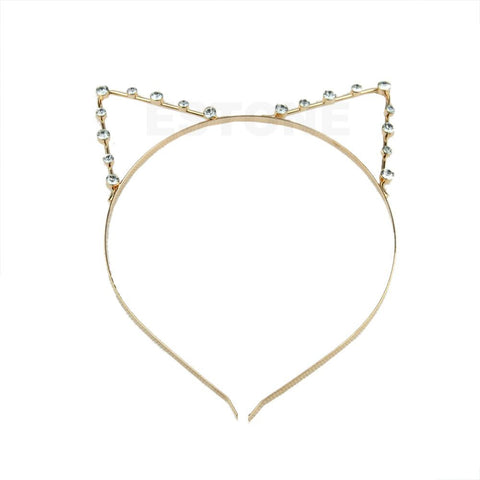 Silver/Golden Cat Ear Girl Head Band