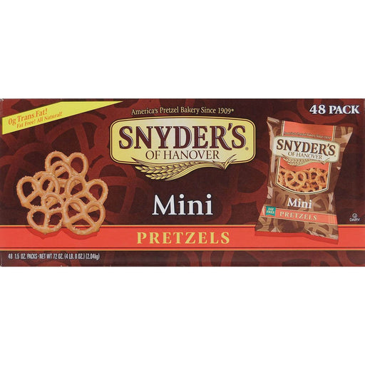 Snyder's of Hanover Mini Pretzels, 60 CT - 1.5 OZ