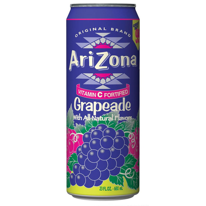 Arizona Grapeade Cans, 24 - 23 OZ