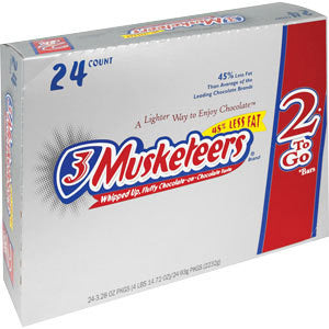 3 Musketeers 2 To Go, 24 CT - 3.28 OZ