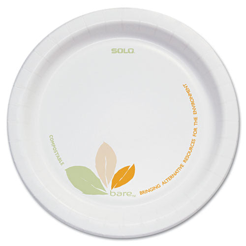 "Bare Paper Dinnerware, 6"" Plate, Green/Tan, 500/Carton"