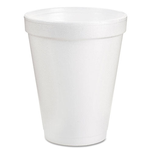 8oz White Foam Cups 25/Pack