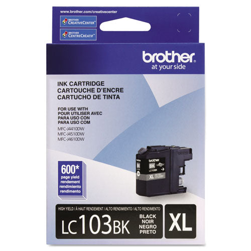 LC103BK, LC-103BK, Innobella High-Yield Ink, 600 Page-Yield, Black