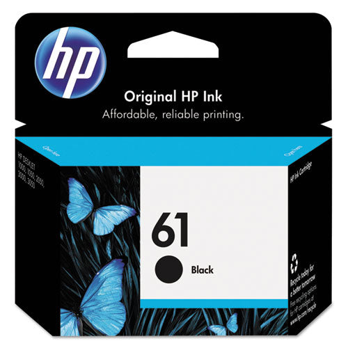 HP 61, (CH561WN) Black Original Ink Cartridge