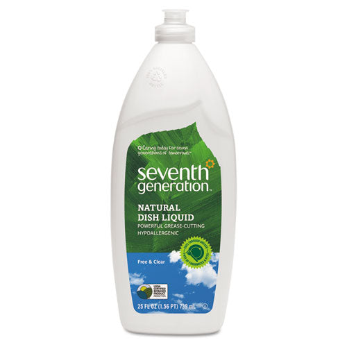 Seventh Generation Natural Dishwashing Liquid (Free & Clear Scent, 25 oz, 1 bottle)