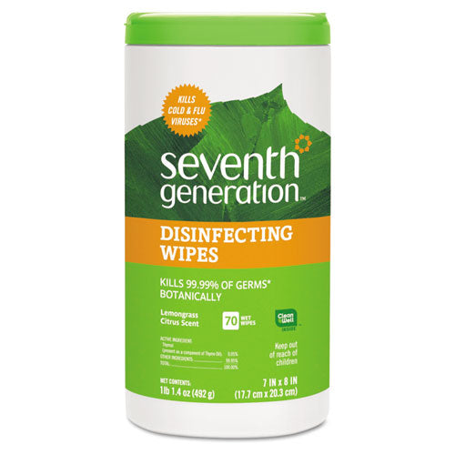 Botanical Disinfecting Wipes, 7 x 8, 70 Count