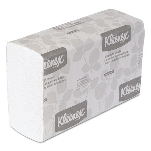 KLEENEX Multifold Paper Towels, 9 1/5 x 9 2/5, White, 150/Pack, 16 Packs/Carton