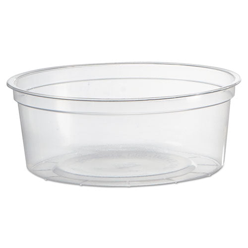 Deli Containers, Clear, 8oz, 50/Pack, 10 Pack/Carton