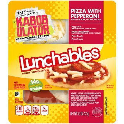 Lunchables Pepperoni Pizza, 1 CT - 4.3 OZ