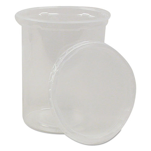 Deli Containers and Lids, 32 oz, Clear, 250/Carton