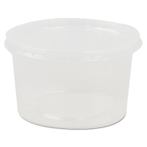 Deli Containers and Lids, 8 oz, Clear, 250/Carton