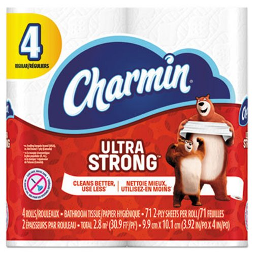 Charmin Ultra Strong 4 Pack 2 ply Bath Tissue, 6 - 4 PK