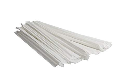 7-3/4 Wrapped Clear Straw, 1 - 500 CT
