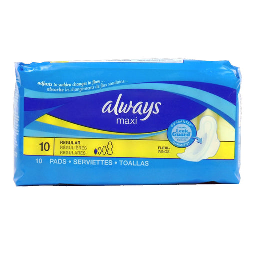 Always Maxi Regular Pads, 1 CT - 10 PK