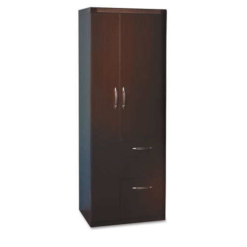 Aberdeen Series Personal Storage Tower, Box 2 Of 2, 24w x 24d x 68-3/4h, Mocha