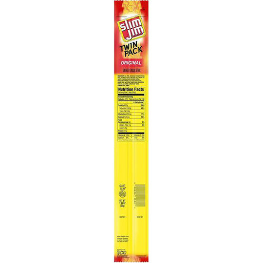 Slim Jim Original Smoked Snack Stick Twin Pack, 24 CT - 1.94 OZ