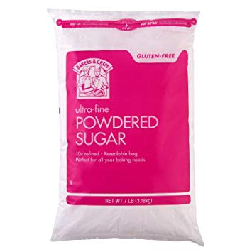 Bakers & Chefs Ultra Fine Powdered Sugar Bag (7 LB, 1 resealable bag)