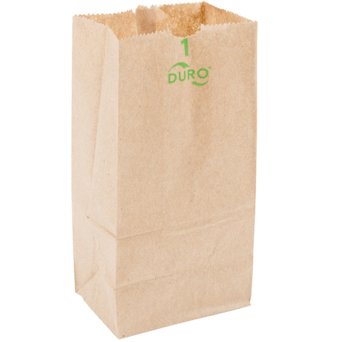 1# Brown Kraft Bags Duro, 1 - 500 CT