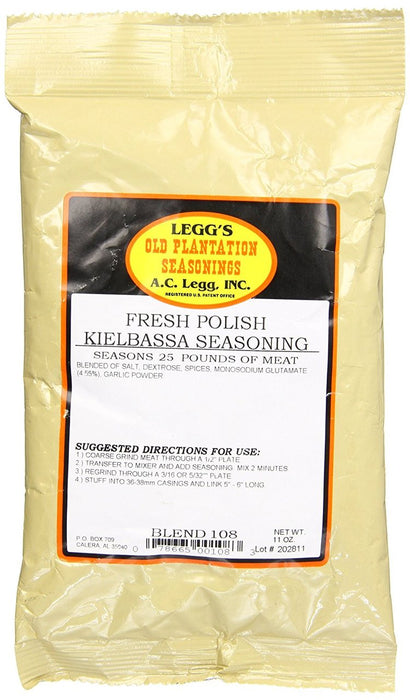 A.C. Legg Smoked Polish Kielbasa, Blend #106, 1 - 11 OZ