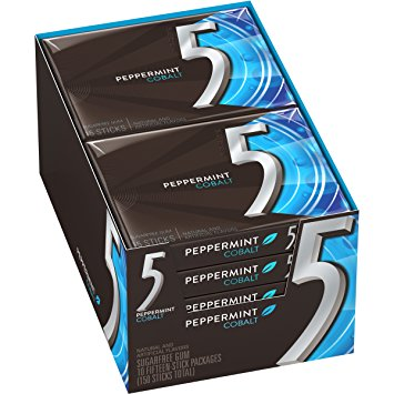 5 Gum Peppermint Cobalt, 10 CT - 15 PK