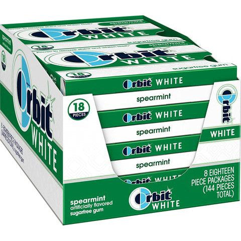 Wrigley's Orbit White Spearmint, 8 CT - 18 PK