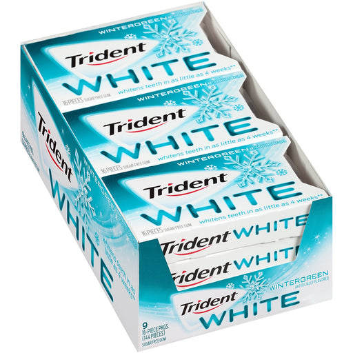 Trident White Wintergreen, 9 CT - 16 PK