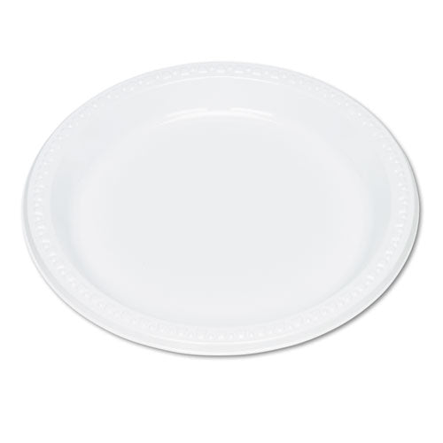 "Tablemate Plastic Plates 9"", 125/Pack"