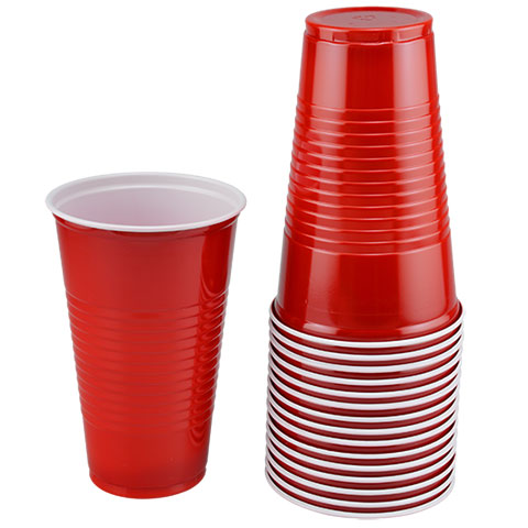 16 OZ Red Solo Cups, 24 - 12 CT